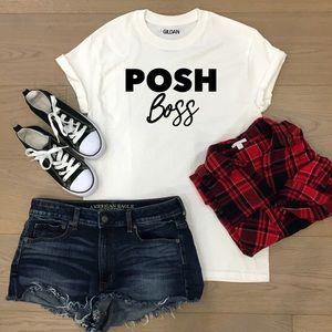Posh Boss cotton tee- made to order! 👚